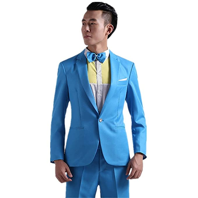 MYS Hombre Estilo coreano multicolor Stylish Party Traje ...