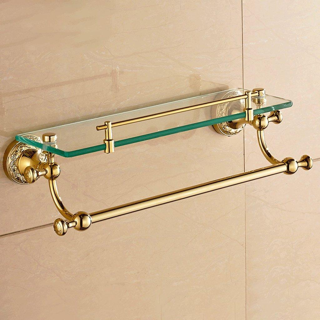56センチメートル銅ガラスドレッシングテーブルラックバスルームアクセサリー B07D1PSY2M 56*13*13.5cm 56*13*13.5cm