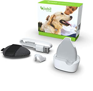 Jiobit Pet Tracker - Live Location Monitoring for Dogs and Cats of Any Size | Small, Lightweight, Durable, Water Resistant, Shockproof, Smart Notifications | Utilizes Cellular, BT, WiFi and GPS