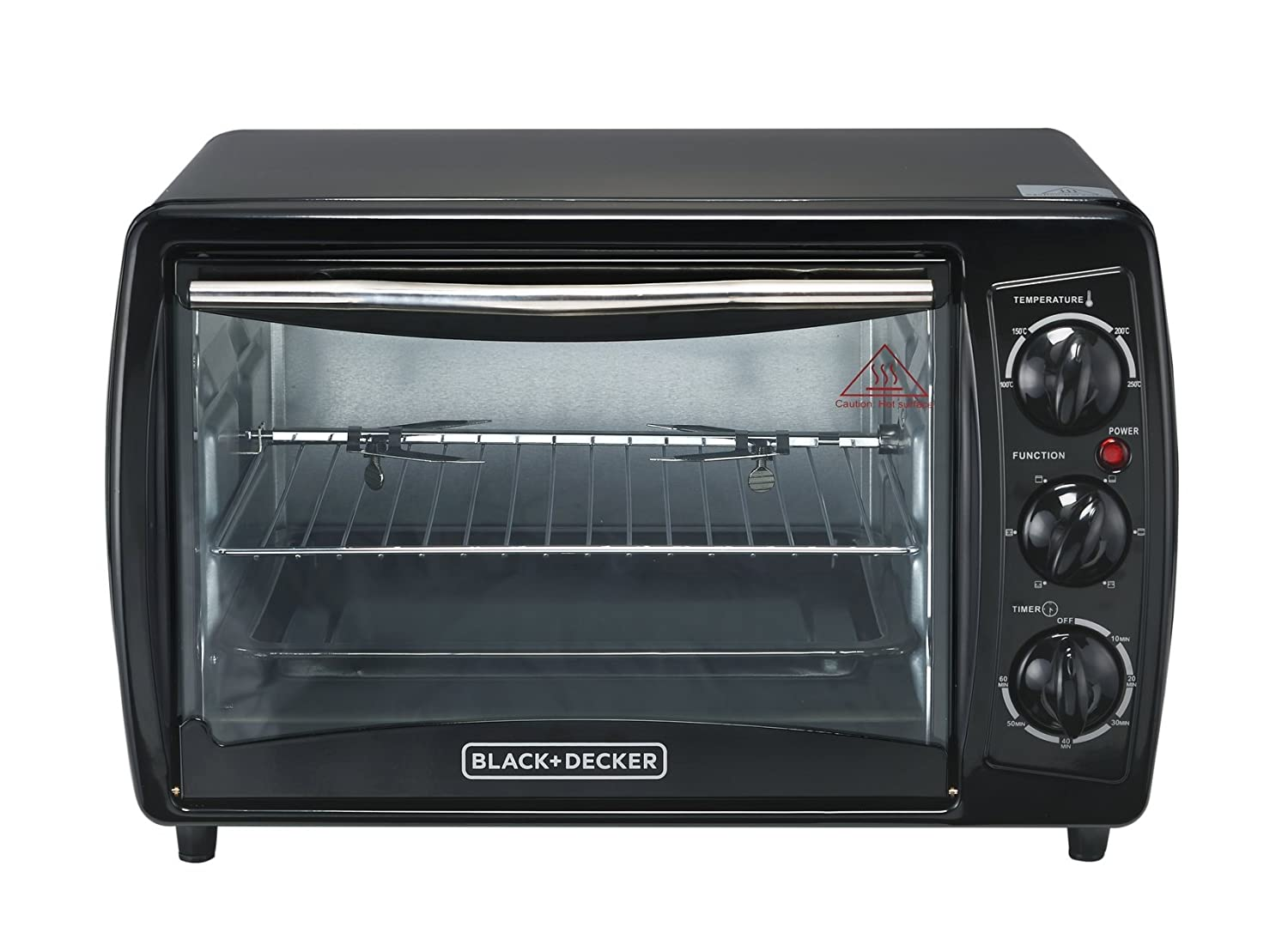 Black Decker TRO2000R 19 L Toaster Oven with Rotisserie Non-USA Compliant , Black