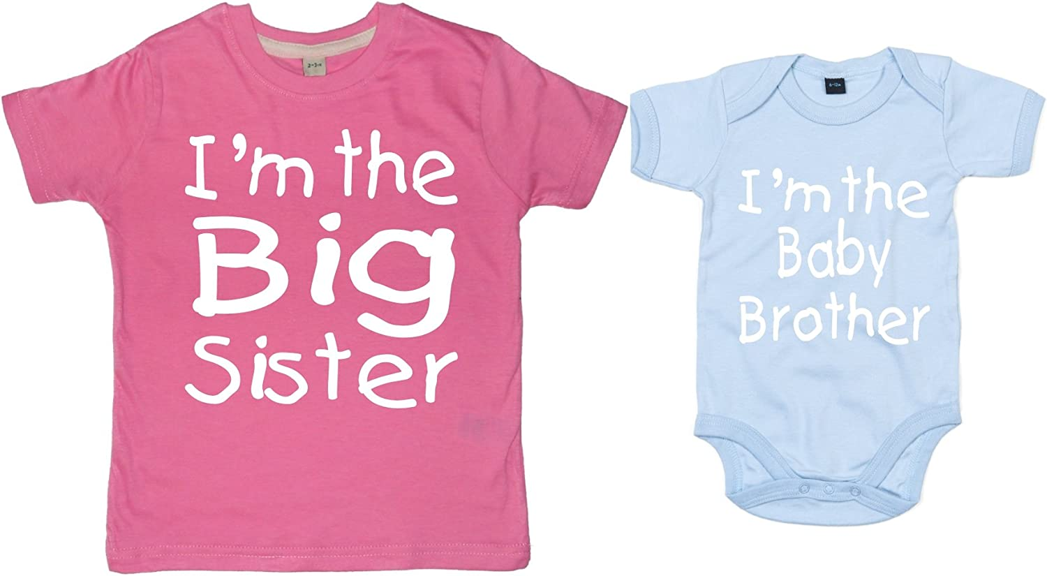 Edward Sinclair Big Sister Coordinati Regalo di Porcellana Maglietta E Body Baby Brother