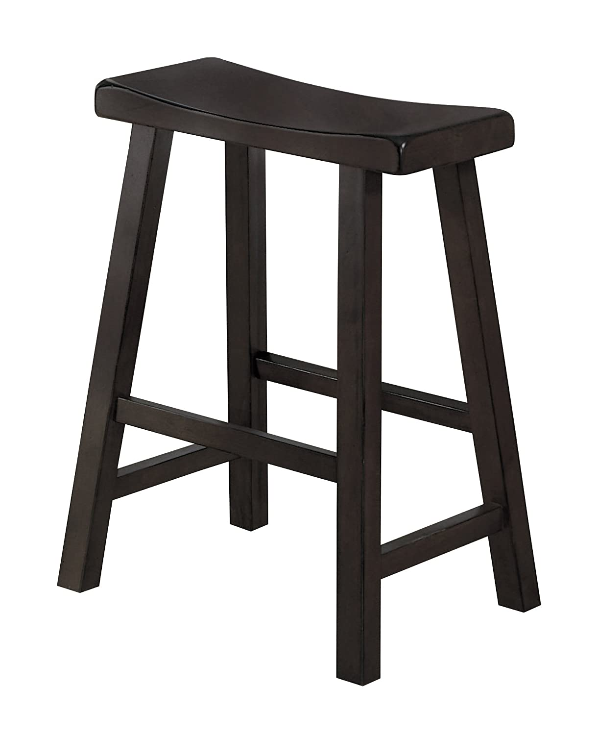 Amazon.com: Homelegance 5302BK-24 Saddleback 24-Inch Barstool ...