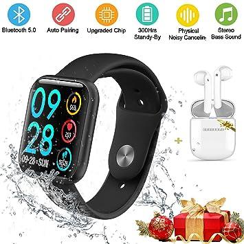 DUODUOGO Smartwatch Reloj Inteligente y Auriculares Bluetooth ...