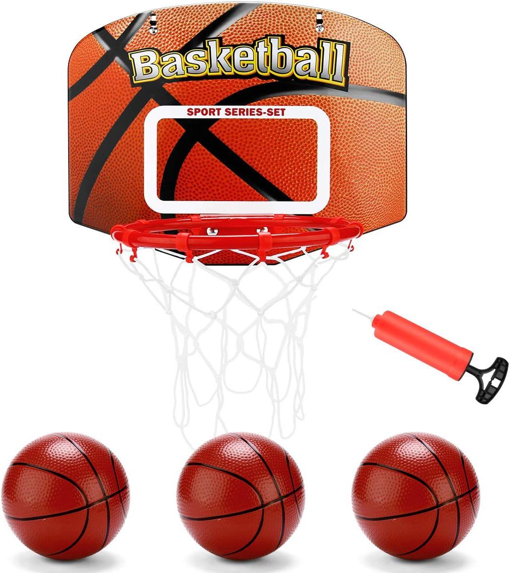 Basketball Toy Set for Kids Indoor Sports Equipment Net Hoop Ball D