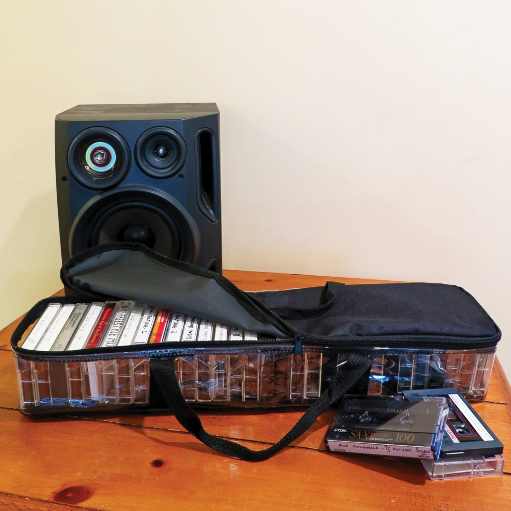 Evelots Cassette Bag-Organizer//Storage-Easy Carry-NO Dust-Hold 30//60//120 Tapes