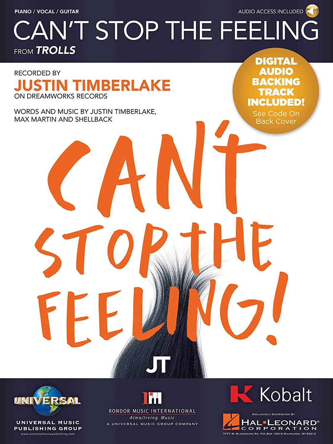 Amazon Justin Timberlake Cant Stop The Feeling Pianovocal