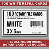 3x5 Rotary File Refill Cards 100 Fits All Major
