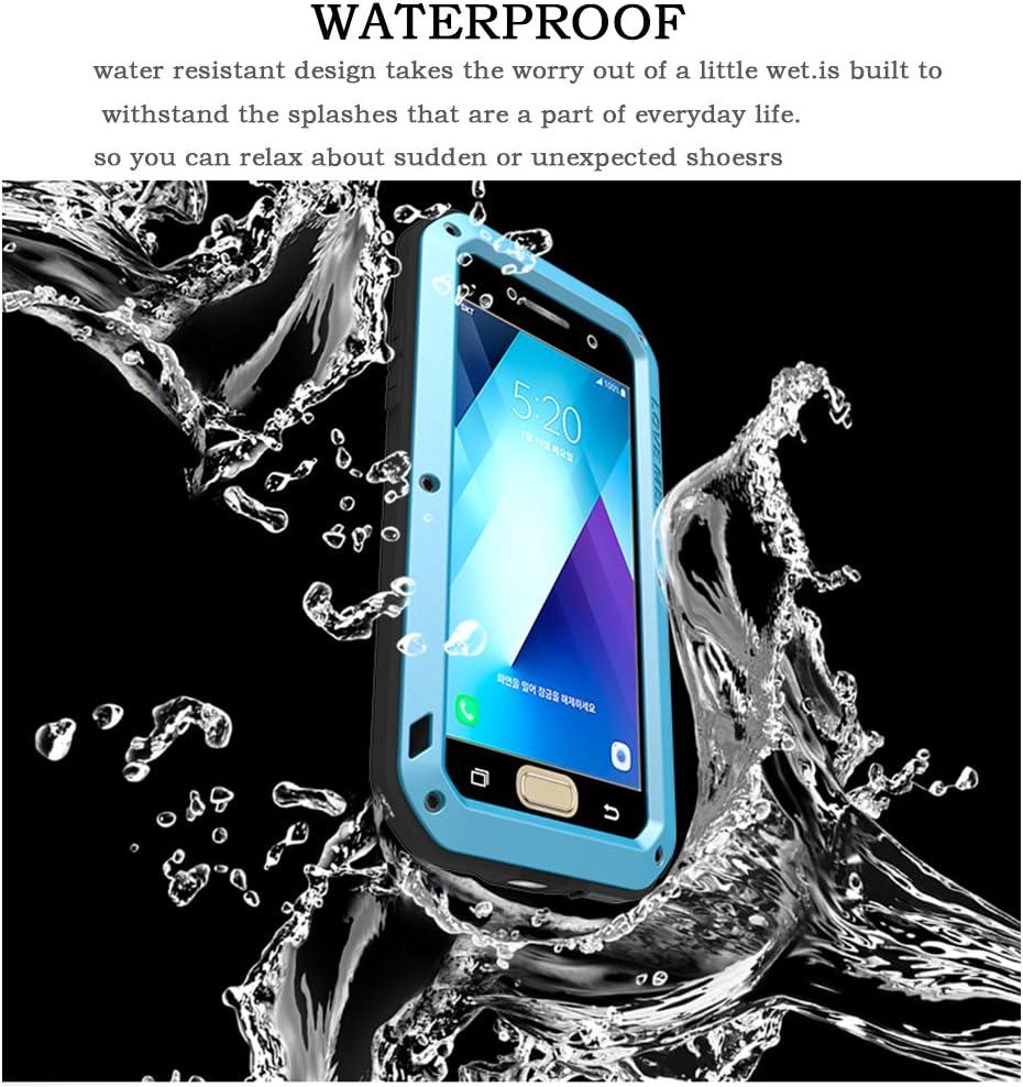 Samsung Galaxy A5 Coque 2017 A520, Feitenn Extreme hybride en alliage aluminium métal Bumper militaire résistante en caoutchouc souple résistant aux ...