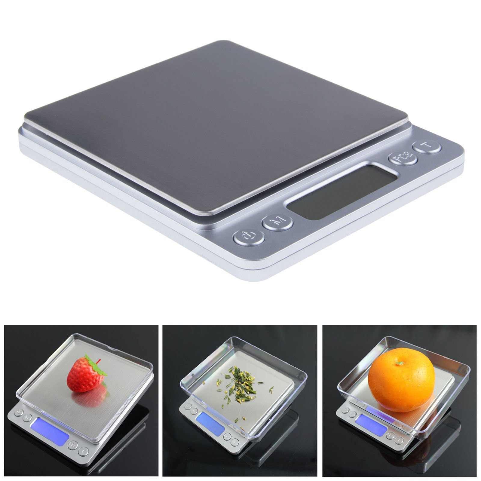 Mini Precision Digital Scale 2000g X 0.1g Jewelry Gold Silver Coin Gram Balance