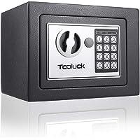 TOOLUCK- Caja Fuerte, con Cerradura Electrónica y 2 llaves de Emergencia, Montada en la Pared / Piso, con dos pernos de…