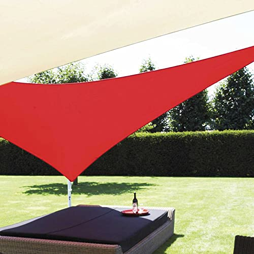 E K Sunrise 12 x12x 12 Sun Shade Sail Red Equilateral Triangle Canopy – Outdoor Shade Cloth 180 GSM UV Block Fabric,Curve Edge-Customized