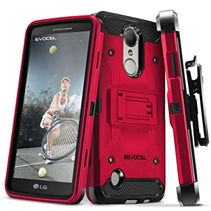 Cell Phone Accessories Hybrid Shockproof Holster Clip Kickstand Case Cover For Lg Aristo Lv3 V3 Ms210 Clear-Cut Texture Cases, Covers & Skins