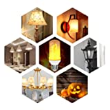 Flame Light Bulb, 2 Modes E26 LED Flame Effect Fire Light Bulbs, Flame Flickering Lamps for Garden/Bars/Restaurants/House Decoration