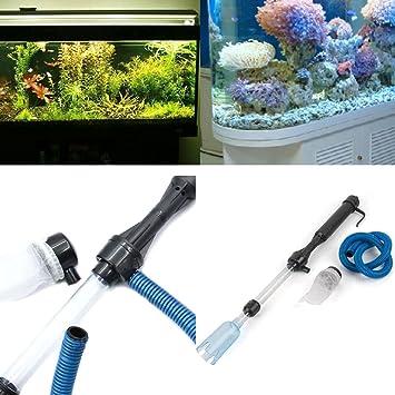 Hinmay - Filtro de agua para acuario eléctrico con batería de sifón: Amazon.es: Productos para mascotas