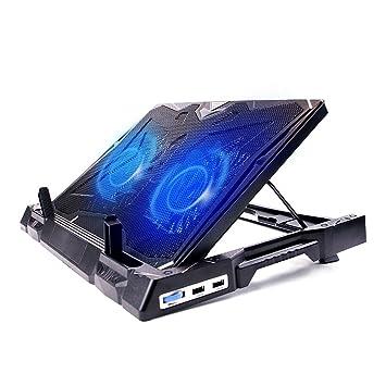 4152e99a1e02bc Techstick Refroidisseur PC Portable Avec 2 Ventilateurs Refroidissement  Ultra-Silencieux, 2 USB Ports Support