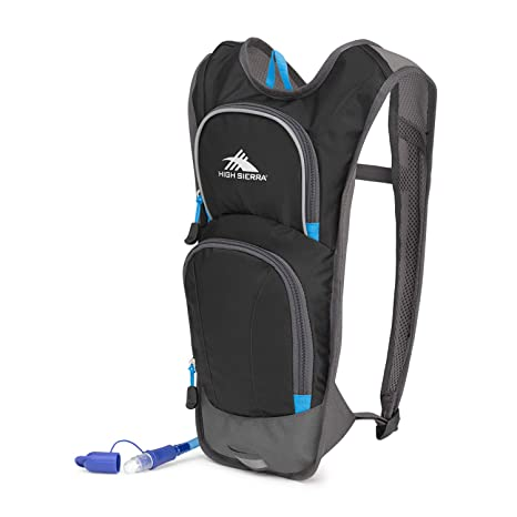 High Sierra HydraHike 4L Hydration Pack with 2L Reservoir Included (Black/Slate/Pool