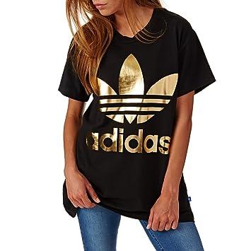 camiseta adidas big trefoil mujer