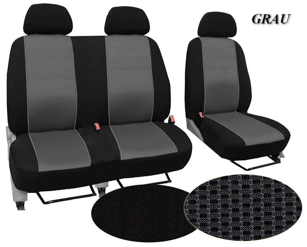 Super Qualit/ät POK-TER-BUS Ma/ßgefertigter Sitzbezug In diesem Angebot GRAU STOFFART VIP Modellspezifischer Sitzbezug Fahrersitz . 2er Beifahrersitzbank F/ür Opel Vivaro I Muster im Foto