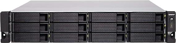 QNAP TS-1277XU-RP Ethernet Bastidor (2U) Negro NAS - Unidad Raid (Unidad de Disco Duro, SSD, Serial ATA III, 2.5,3.5