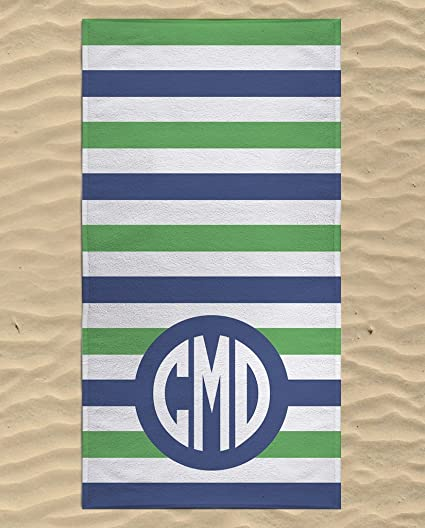 Amazon Com Monogrammed Beach Towel Swimming Towels For Kids
