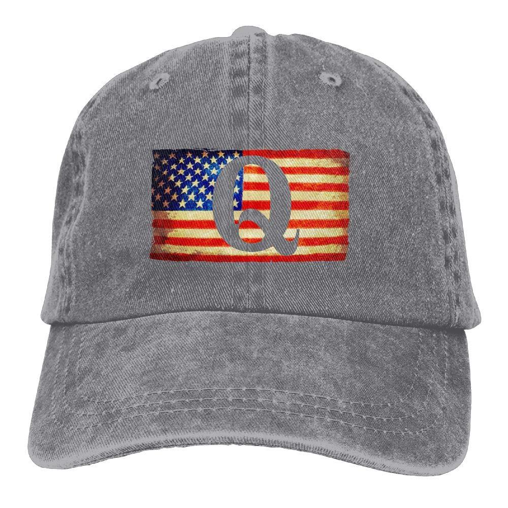 LETI LISW QAnon American Flag I'm Part The Storm1VintageDenim Cap Adult Unisex Adjustable Cap
