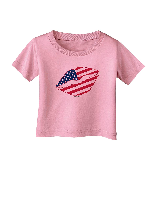 TooLoud American Flag Lipstick Infant T-Shirt