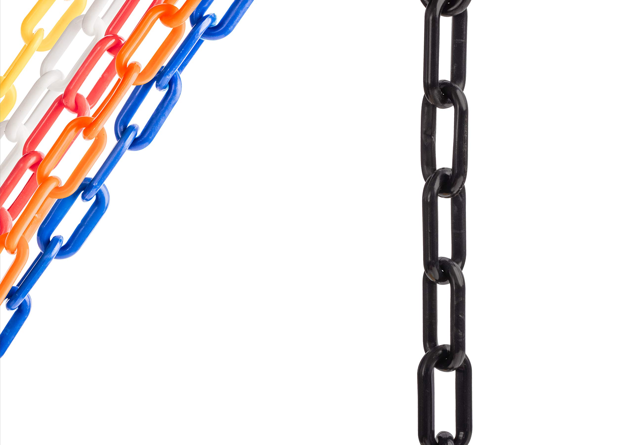 US Weight Chainboss Black Plastic Safety Chain with Sun Shield UV Resistant Technology - 25 ft