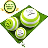 Massage Ball - 3 Set - Deep Tissue Massage Therapy, Myofascial Release, Trigger Point Massager - Muscle Pain Relief, Muscle Knots Foam Ball, Self Massage Physical Therapy Ball
