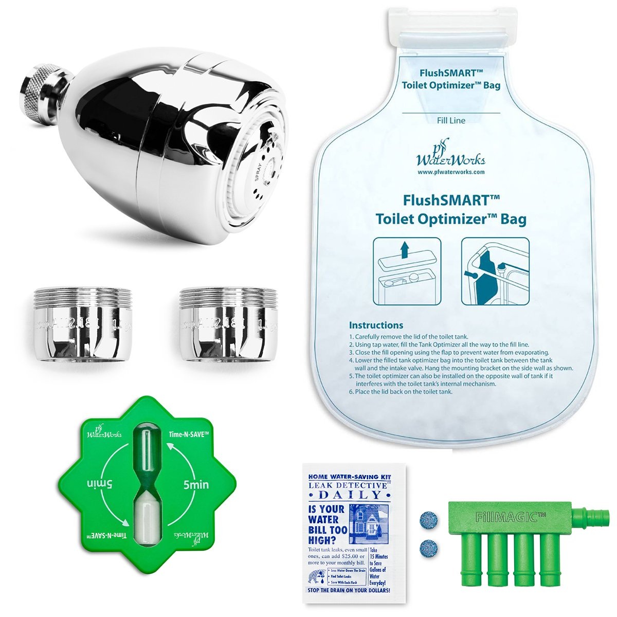 PF WaterWorks HydroSAVER Water Conservation Kit - Bath/Toilet, PF0567