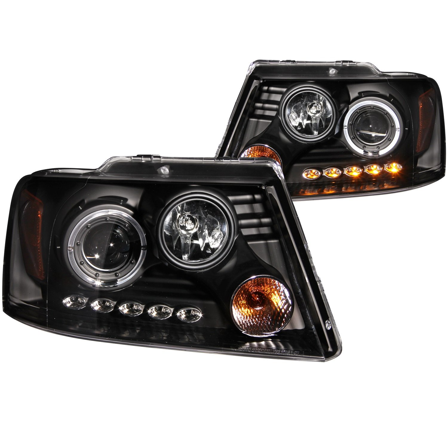 Amazon Anzo USA Ford F 150 Projector with Halo LED Black