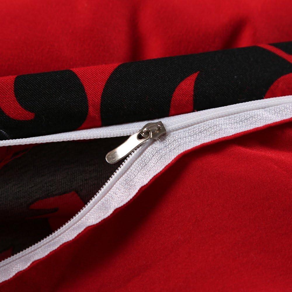 Stillshine Bettw/äsche Rot Modernes Blumenmuster Weich Microfaser-Bett/überzug mit Rei/ßverschluss 1 Bettbezug /& 2 Kissenbez/üge Bettw/äsche Set Doppelbett 200x200cm