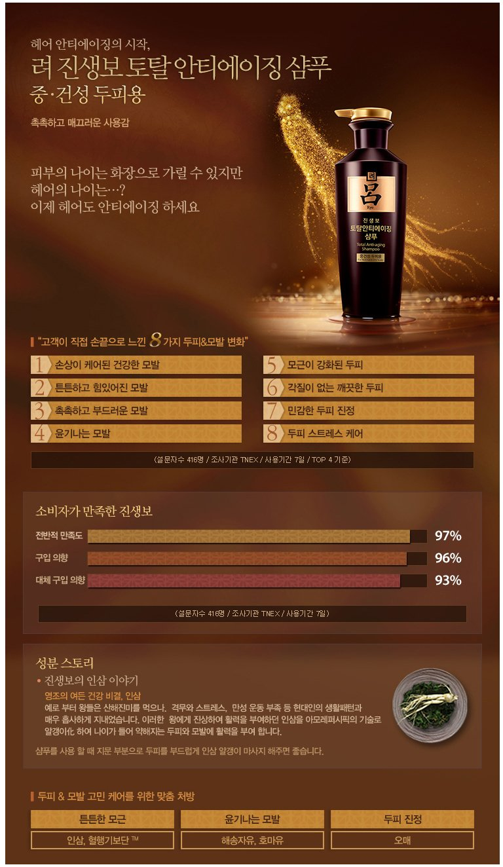 Ryoe Korean Jinsaengbo Total Anti Aging Shampoo 400ml