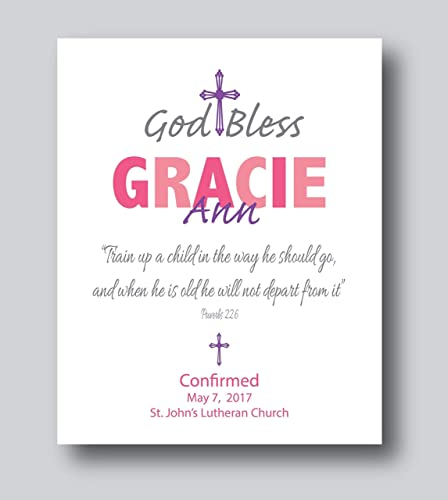 Confirmation Gifts For Teenage Girl, Confirmation Gifts For Teenage Boy, Confirmation Personalized Gift, 8x10 or 11x14 Print Only, First Communion Gifts For ...