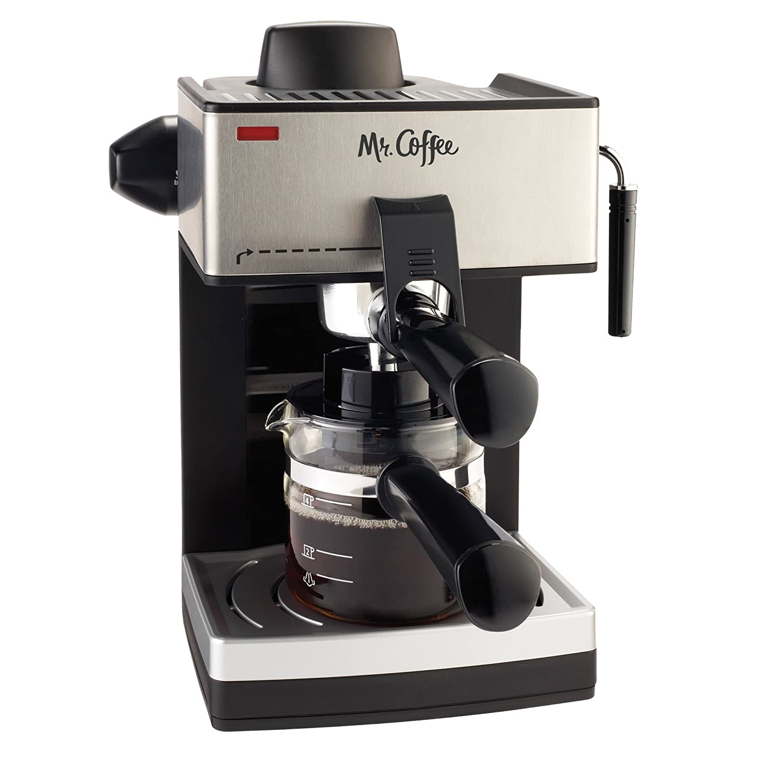 Electronic Coffee For Machines amazon com mr coffee 4 cup steam espresso system with milk frother ecm160 kitchen dining