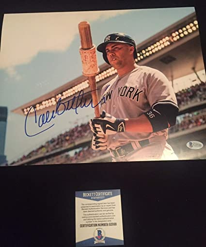 Carlos Beltran Autographed Signed 11x14 Picture Beckett