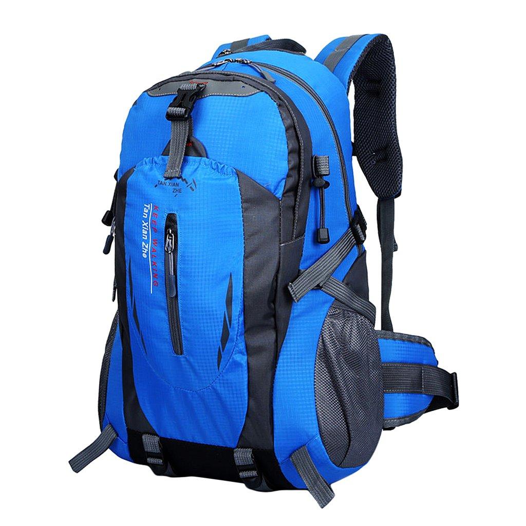 40L Mochila Bolsa de Deporte Escalada Acampada Al Aire Libre Impermeable Nylon Azul