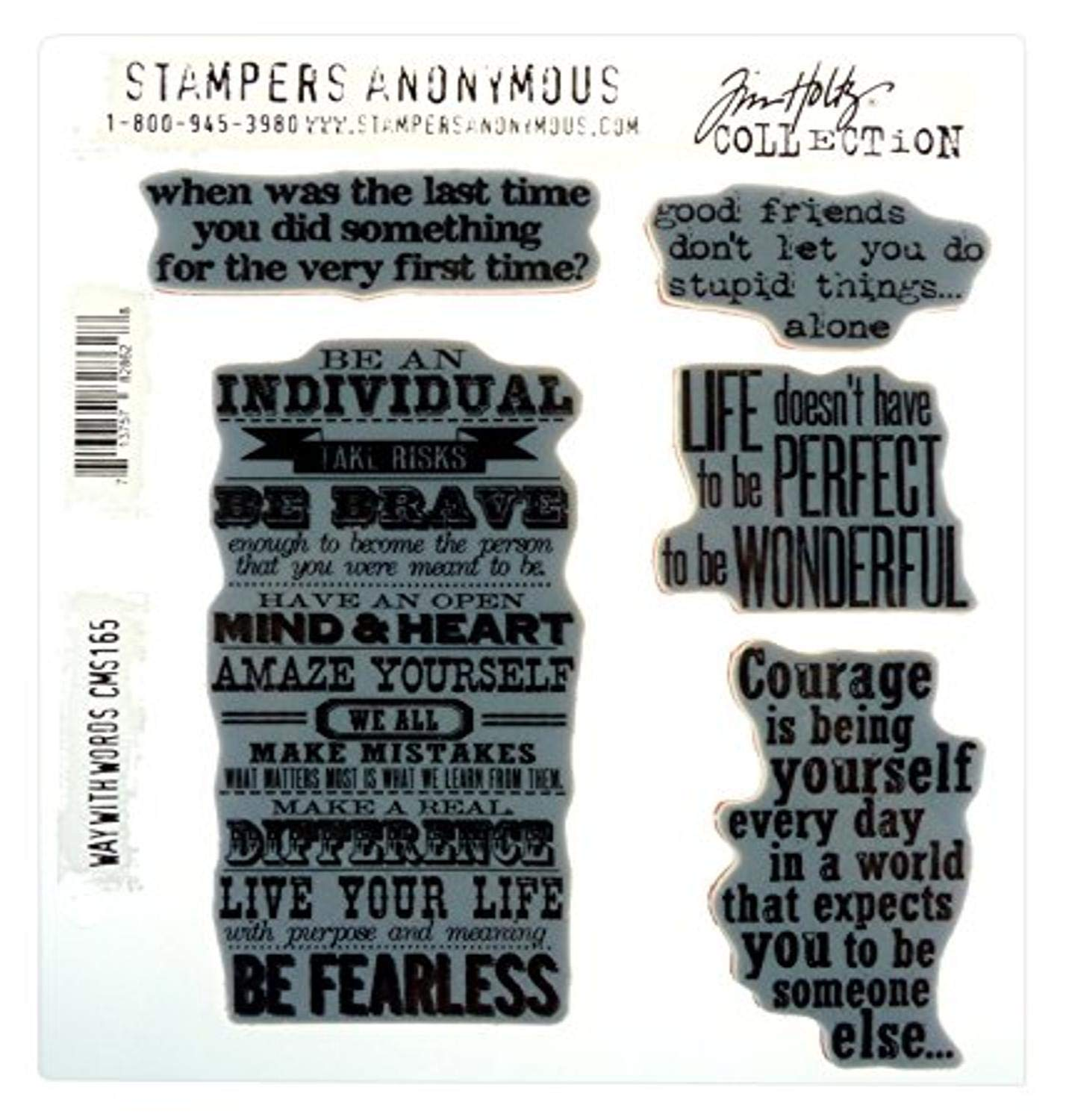 Travel Ways 7 by 8.5-Inch Stampers Anonymous Tim Holtz Cling Rubber Stamp Set