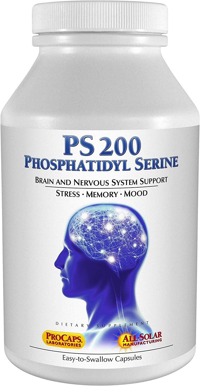 Andrew Lessman PS 200 Phosphatidyl Serine 60 Capsules – Supports Mental Clarity, Positive Mood, Memory, Cognitive Function. Essential for Neurotransmitter Production and Release. No Additives
