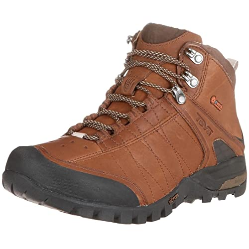 Teva Riva Leather Mid Event - Botas de senderismo para hombre, color marrón, talla