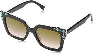 96043e4dbdd4 Fendi Can Eye Fashion Square Sunglasses in Black Pink FF 0260 S 3H2 52