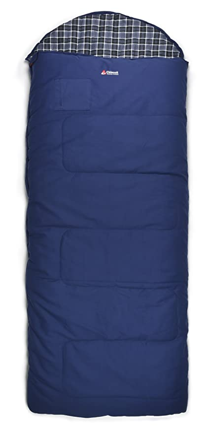 cheap for discount 0405d a63d6 Chinook Alaskan 9.5 Double Hooded Rectangular Synthetic -50-Degree Sleeping  Bag, Blue, X-Large
