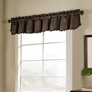American Curtain and Home Solid Blackout Window Treatment Valance, 54-Inch by 15-Inch, Chocolate