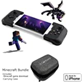 Gamevice Controller – Gamepad Game Controller for iPhone X/8/7/6 & Plus [Minecraft Bundle] [Apple MFi Certified] [DJI Spark, Tello, Sphero Star Wars] - 1000+ Compatible Games (2018 Model) – GV157MUS