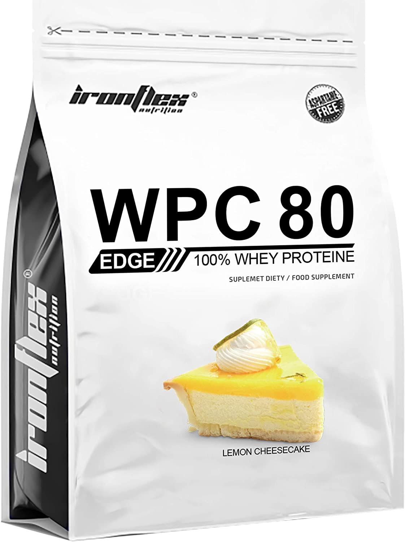 Iron Flex WPC 80 Edge - 1 paquete - Concentrado de proteína de suero - Perfil completo de aminoácidos - Suplemento de vanguardia - Cero azúcar (Lemon ...