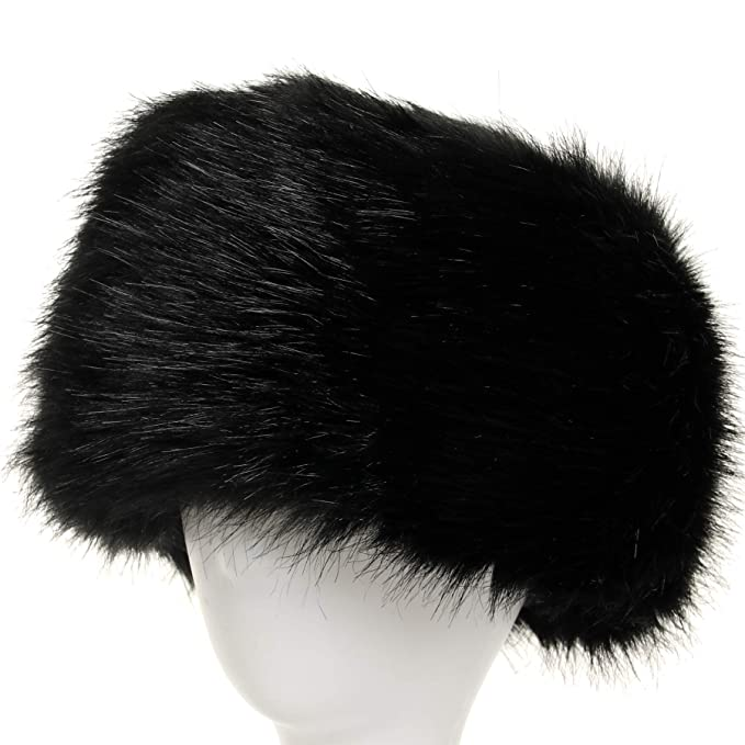 0582dc5e445 La Carrie Women s Faux Fur Hat for Winter with Stretch Cossack Russion  Style White Warm Cap