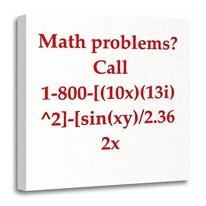 amazon com torass canvas wall art print mathematics funny math joke