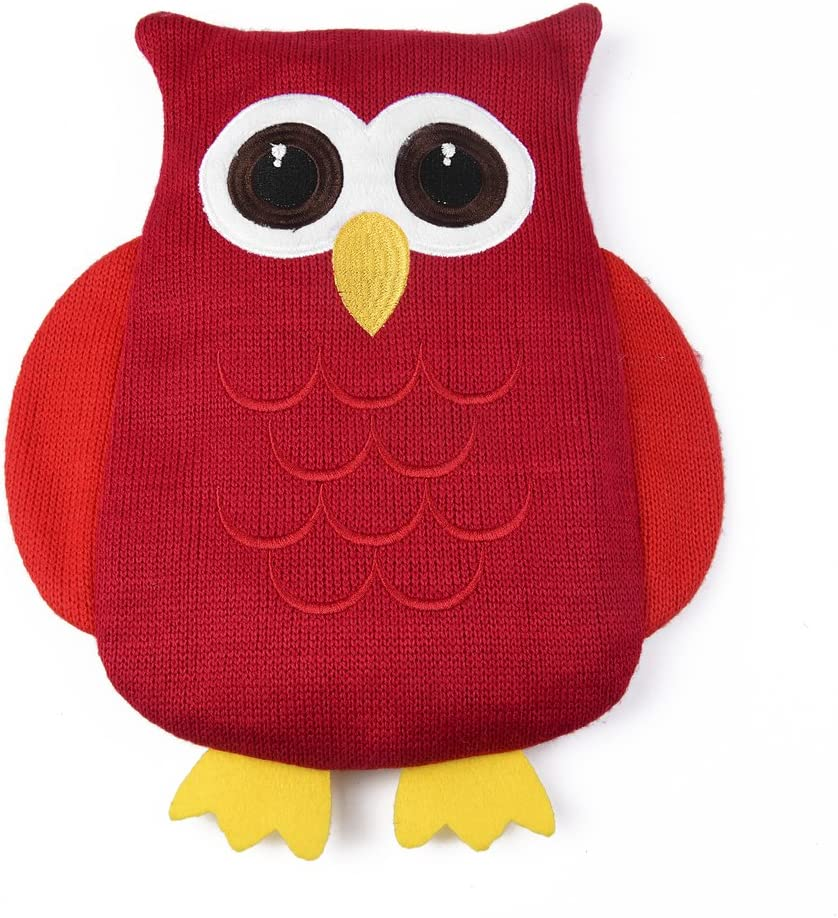 Owl Heat Pad with Removable Cherry Stone Bag Microwave Warming