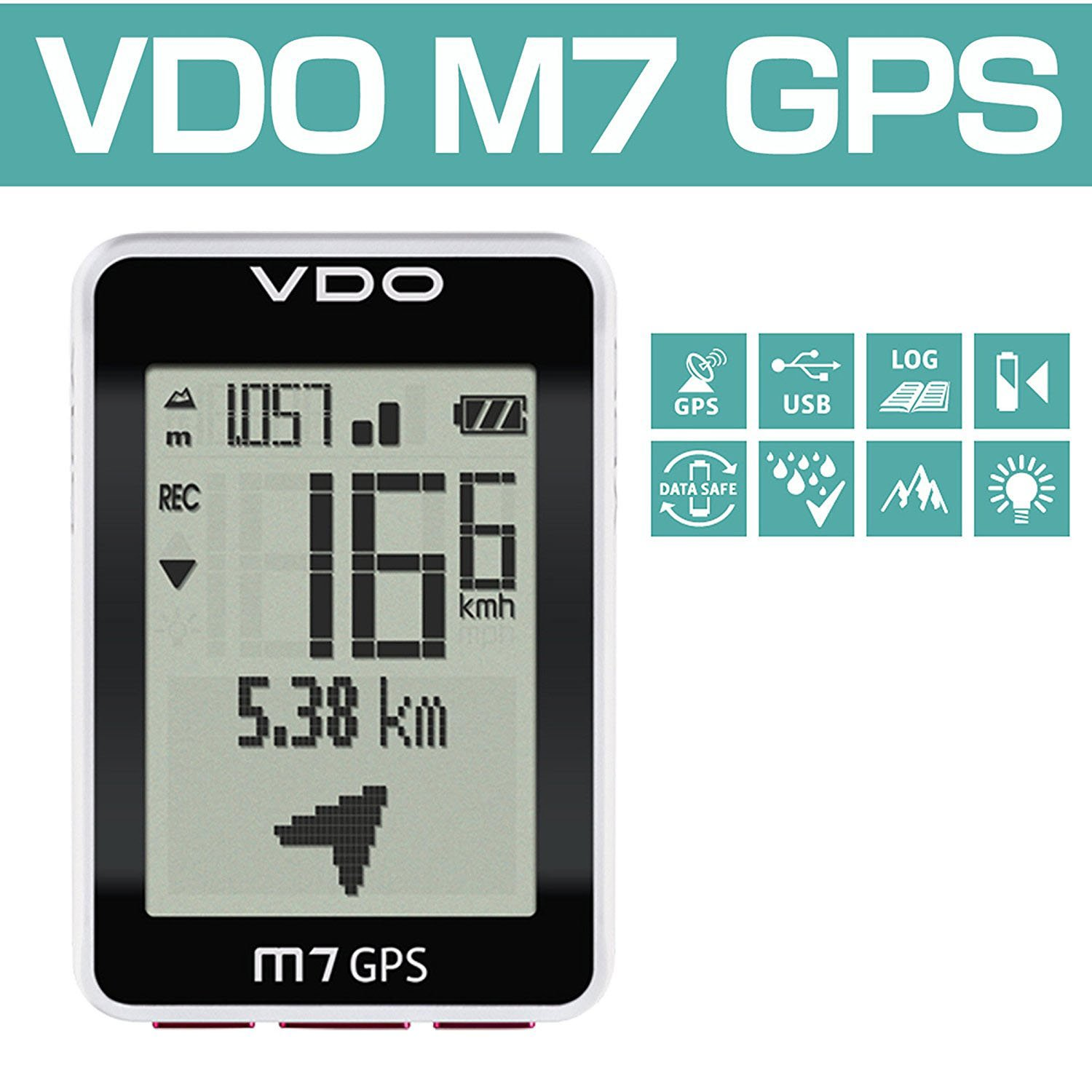 Vdo M7 Gps With Motion Sensor Digital Wireless Black Speedometers Speed Speedometer Cycle Bike Cyclocomputer Sports Outdoors