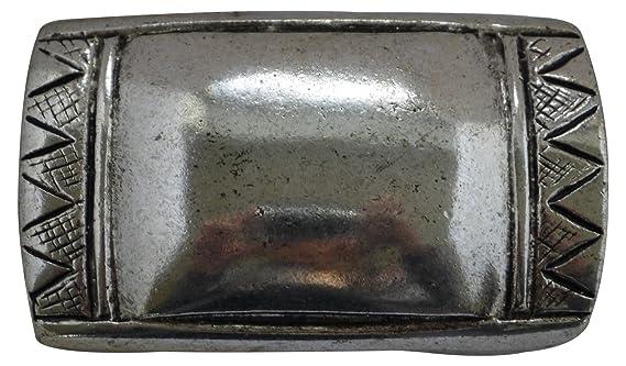 FRONHOFER Gro/ße G/ürtelschnalle in altsilber Buckle silber kleine Totenk/öpfe 18119 4 cm Wechselg/ürtel unisex