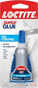 Loctite Super Glue Gel Control, 4 Gram Bottle (1364076), Clear, Single